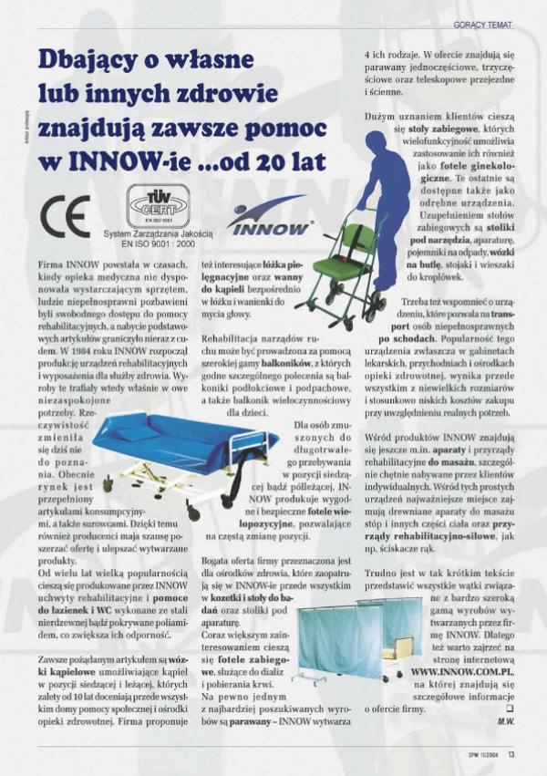 Rehabilitacja w praktyce - listopad 2004