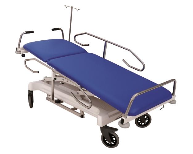 Stół do transportu chorych S405 EVO AT - pozycja anty-/Trendelenburga, głowa pacjenta wychylona ku górze