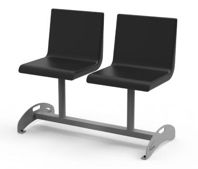 Podwójne krzesła do poczekalni