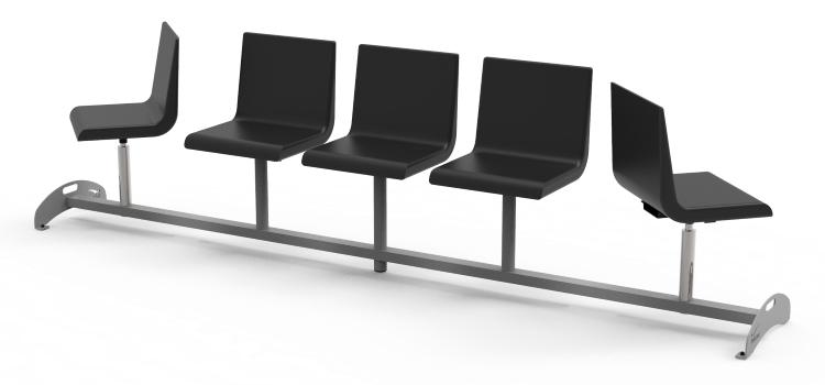Krzesła do poczekalni z 2 regulowanymi siedziskami